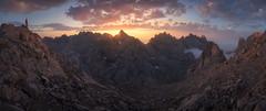 Puesta de sol tras el Tesorero (Pablo RG) Tags: picos de europa cantabria montaña sunset nikon nature mountains lanscape panoramica cielo españa liebana