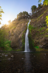 Horsetail Falls Sunrise (Mike Ver Sprill - Milky Way Mike) Tags: horsetail falls horese tail waterfall water fall nature landscape oregon columbia river gorge sun sunburst luminar 2018