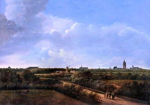 IMG_1334 Anthony van der Croos 1606-1665  Weite Landschaft mit Den Haag von Nordwesten  paysage avec La Haye vue du nord-ouest Wide landscape with The Hague from northwest Schwerin.Staatliches Museum