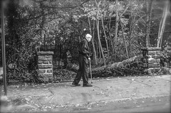 Walking against the storm... (Capitancapitan) Tags: men walking storm manhattan nyc black white picture photography street pentax camera instagram you neury luciano music pop rock urim y tumim el mundo gira new york city