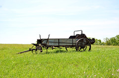 Kansas, Wabaunsee County, Horse Drawn Manure Spreader (EC Leatherberry) Tags: agriculture kansas farm farmimplement wabaunseecounty horsedrawn manurespreader