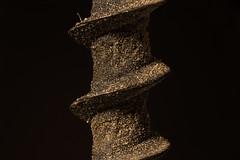 Old screw, macro. (garic400) Tags: old screw rusty macro black background макро крупный 3x 4x план closeup microplanar 65 mm f 45 микропланар selftapping dirty шуруп microworld macroworld world macrocosm фотография