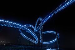 Blue Snake (mysterious-man) Tags: tiger turtle duisburg night nachtaufnahme langzeitbelichtung blue blau snake ruhrgebiet halde