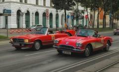 red cars (try...error) Tags: chevrolet corvette vette rot mercedes cabrio roadster classic car mg tf porsche 911