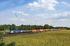 Bardowick Boxxpress 193 836-4 MRCE 193 875-2 Container (Wolfgang Schrade) Tags: boxxpress mrce vectron br193 1938364 1938752 containerzug container werbelok kbs110 bardowickbruch zug güterzug eisenbahn