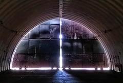 Cosed (modest photo maker) Tags: gewölbe stahl tor lichtspalt vault gate light gap steel