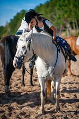 Travelling with Horses (©Andrey) Tags: travelling with horses seaside horse girls outdoor landscape summer veczemju klints latvia lettonie sand ef8518 ceļojums pa latvijas robežu zirga mugurā lettland umrunden zu pferde