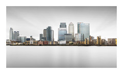 Skyline (GlennDriver) Tags: long exposure england london river water tranquil fineart buildings architecture uk black white