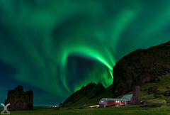Green Vortex (DanielKHC) Tags: iceland aurora northern lights kp7 vik night green landscape nikon d850