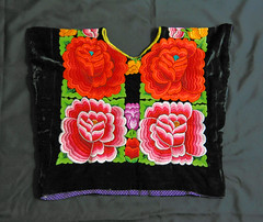Tehuana Huipil Zapotec Oaxaca Mexico Textiles (Teyacapan) Tags: tehuantepec mexican oaxacan huipiles ropa clothing istmo embroidered flores flowers indumentaria