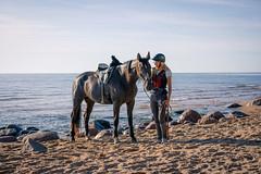 Travelling with Horses (©Andrey) Tags: travelling with horses seaside horse girls outdoor landscape summer veczemju klints latvia lettonie sand sel55f18z sonnartfe1855 ceļojums pa latvijas robežu zirga mugurā lettland umrunden zu pferde