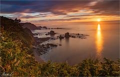 Asturian Sunset (AdelheidS Photography) Tags: sunset sky españa sun coast spain scenery asturias viewpoint goldenhour canoneos6d adelheidspictures adelheidsmitt adelheidsphotography