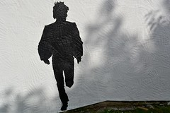 Beatle silhouette (James O'Hanlon) Tags: new brighton newbrighton thebeatles thebeatlesmuralnewbrighton mural wirral rockpoint leisure