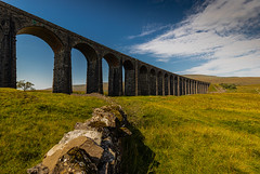 Ribblehead Viaduct (1 of 1) (selvagedavid38) Tags: ribblehead viaduct railway engineering bridge arches yorkshire tracks scenic landscape sky clouds blue green brick outdoor stone wall