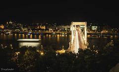 Elizabeth Bridge at night - Budapest (gergely.t.springer) Tags: budapest hungary magyarország timelaps longexposure capital bridge river donau duna city night nikon d3500 jackaltripod elizabeth elizabethbridge