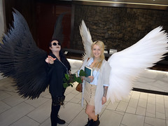Crowley & Aziraphale (greyloch) Tags: dragoncon cosplay costumes 2019 sony dsctx30 niksoftware colorefexpro goodomens rule63 crowley aziraphale wings