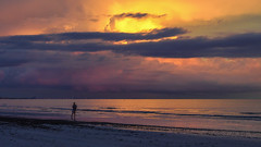Sunset Sky (Ann Kunz) Tags: sunset florida fortmyersbeach beach sky clouds ocean nature travel weather seascape