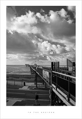 To the horizon (Parallax Corporation) Tags: southportpromenade southportpier blackwhite horizonline beach perspective sonya7rii sonyfe35mm28 seasidetown classicseasidetown besidetheseaside clouds sky