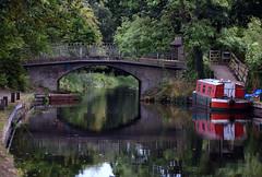 Basingstoke Canal St John's - Woking 1 September 2019 011 (paul_appleyard) Tags: basingstoke canal woking september 2019 water waterway reflections reflected boat narrowboat