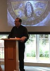 Fr. Kesicki speaks on St. Peter's experience at the Transfiguration during retreat – August 31, 2019.