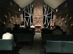 Holy Hour during seminary retreat, at the Jesuit Retreat Center.