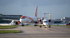 Loganair and easyJet (Matthew Garner) Tags: manchesterairport airport egcc manchester planes aircraft flying travel planespotting easyjet loganair airbus a320 embraer erj135er a320214 gsajb geztt nikond7500 d7500 nikon aviation avgeek