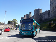 CX14BXO 3175 Arriva Buses Wales in Conwy (Nuneaton777 Bus Photos) Tags: arriva buses wales wright pulsar cx14bxo 3175 conwy