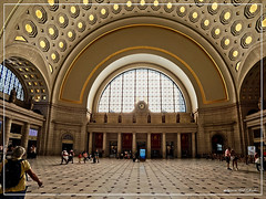Union Station (Bob Shrader) Tags: olympusem10markii olympusmzuikodigitaled8mmf18fisheyepro 8mm f8 1200sec 200iso raw microfourthirds mft m43 mirrorless architecture structure building government unionstation transportation rail railroadstation people commuters room window ceiling floor clock northamerica unitedstatesofamerica america us unitedstates usa washingtondc districtofcolumbia em10markii olympusomdem10ii omdem10markii primelens olympusmzuikodigital8mmf18fisheyepro interior wideshot dxo dxophotolab dxoviewpoint on1 photoraw2019 preset jimwelninskistandardcolorgrading bluelime colorgrading photoborder photoedge photoframe postprocessing fisheye