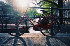 The light, the old bike and I (erlingraahede) Tags: vsco canon canals light shadow bike amsterdam