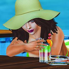 Last Of Summer  ☀️ (ღ Kimmy ღ) Tags: summer hat tan truthhair focusposes relax secondlife sl firestrom