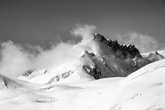 Jungfraujoch (Ann Kunz) Tags: jungfraujoch alps switzerland travel europe blackandwhite mountains snow clouds