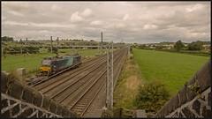 Two minutes later..... (peterdouglas1) Tags: stableford directrailservices class88 88010 footbridges wcml