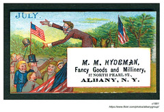 1881 hydeman fancy goods & millinery (albany group archive) Tags: albany ny history 1881 hydeman fancy goods millinery north pearl street july 4 politician speech trade card 1880s tradecard old photograph photo picture historic vintage