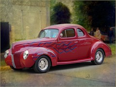 A Masterpiece (novice09) Tags: backtothefifties carshow ford coupe streetrod ipiccy deepdreamgenerator painterly