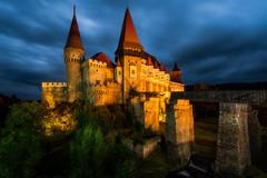 Corvin Castle (danielghetu.dg) Tags: castle romania night nightlights sony sky travel tower history architecture bridge bluesky