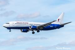 [ORY] Electra Airways Boeing 737-400 _ LZ-EBA (thibou1) Tags: thierrybourgain ory lfpo orly spotting aircraft airplane nikon d810 tamron sigma electraairways boeing boeing737 b737 b734 b737400 lzeba landing transavia