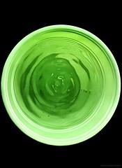 Freie Interpretation ... (Federico Fulcheri Photo) Tags: federicofulcheriphoto©️ silence darkness artistphotographer artisticphotography plasticglass glass water color green contemporaryart art circle nopeople snapseed iphoneiphonexsmax apple