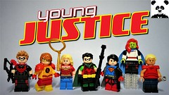 Young Justice (HaphazardPanda) Tags: lego figs fig figures figure minifigs minifig minifigures minifigure purist purists character characters comics comic book books story group super hero heroes superhero superheroes dc justice league young red arrow speedy kid flash wonder girl robin superboy miss martian aqualad