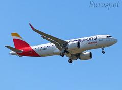 F-WWBD Airbus A320 Neo Iberia (@Eurospot) Tags: ecnfz fwwbd airbus a320 neo 10002 toulouse blagnac iberia oneworld