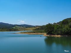 Region de Ariège (Gatodidi) Tags: region ariègesainte croix volvestre francia france lago arboles cielo azul pescador naturaleza natura montañas agua ng