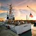 U.S. Coast Guard Cutter Moray at sunset