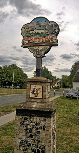 UK, Norfolk, Weeting Village Sign