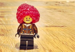 Who would have thought a raspberry would make sure a good 'fro for a Lego (Thomas Winstone) Tags: phone plastic bricks toy lego afro