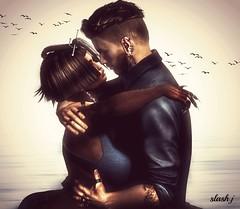 Us ♥♥ (slash marciano) Tags: you me us beard belleza couple design earrings eyes fashion feel feeling firestorm femme gars hair head hands hand happy he she tattoo tag toi moi music shi