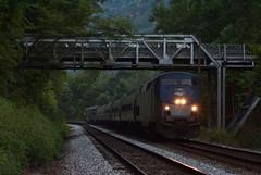 Claremont Cardinal (Tristan_Miller) Tags: amtrak cardinal passenger train new river gorge truss bridge claremont wv west virginia