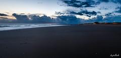 Borkum beach (.D..B.) Tags: nikon d7000 pano sigma ys widerama 18mm beach sea sunset borkum germany water clouds