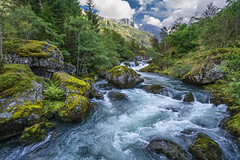 Folgefonna National Park, Norway (StarCitizen) Tags: norway landscape mountains folgefonna water river bluewater