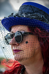 Steam-punk Lady.. (mickb6265) Tags: oldwarden shuttleworthcollection vintageairdisplay2019 steampunk goggles bedfordshire bedford