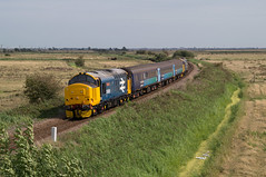 37409 - 2P21 - Branch Road - 31.08.2019 (Tom Watson 70013) Tags: norfolk greater anglia acle drs br blue large logo 37409 branch road bridge