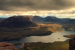 Sgurr An Fhidhleir (Andy Watson1) Tags: sgurranfhidhleir scotland highlands assynt scottish visitscotland stacpollaidh landscape view scenery nature moody lochlurgainn light shadow clouds cloudy may photography scenic mood atmosphere mountains hiking outdoors canon70d